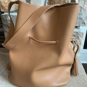 Anthropologie Vegan Leather Bucket Bag